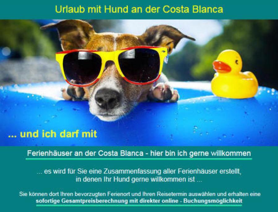 Carlosferien Els Poblets Urlaub mit Hund im Ferienhaus
